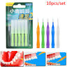 10pc Interdental Brush Clean Between Teeth Dental Floss Pick Push-pull Tooth TRF