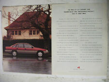 1990 HOLDEN VN CALAIS V8 2 PAGE COLOUR MAGAZINE ADVERTISEMENT