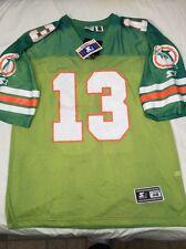 VTG Starter Miami Dolphins Dan Marino NFL Jersey SZ 48 Custom Tie Die NWTS Mint