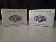 The American Pewter Collection ~Liberty Falls~ Ah71 Set Of Two -Nib~