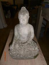 Vintage Robe Buddha Stone Garden Ornament Figure / Statue