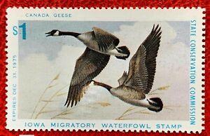 1975 Iowa State Duck Stamp IA-4  CV:$95