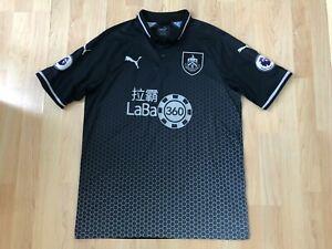 Burnley FC Official 2018/2019 Puma Away Short Sleeve Shirt - Size Large - VGC