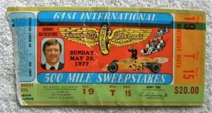 1977 Johnny Rutherford, Indianapolis Motor Speedway 500 Race Ticket Stub
