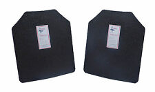 "Pair Level III AR500 Steel Body Armor Two 10"" x 12"" Plates - Quick Ship"