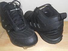 NEW ADIDAS Black SPINNER IV 3/4 BASEBALL CLEATS Shoes  NIB MENS size 9 1/2