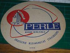 020317 sottobicchiere beer mats birra bierdeckel PERLE BIERE D' ALSACE