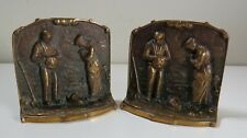 Giving Thanks Angelus Call to Prayer Bronze Bookends - Harvest Farmer