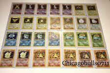 Vintage Pokemon Cards 10 Card LOT 1st Edition/Base set +Holo Rare