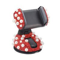 1x Bling Luxury Rhinestones Pearl Car Phone Holder Stand for Phone GPS
