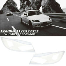 Clear Left+Right Headlight Lens Lampshade Plastic Cover For BMW 3 E90 2006-2012
