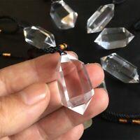 Natural Clear Crystal Quartz Pendulum Pendant Necklace Chakra Gemstone Healing