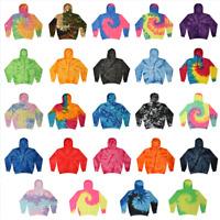 Tie Dye Hooded Sweatshirt Adult Unisex (S-3XL) Colortone-Gildan