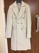 Karen Millen Stone Military Moleskin Coat Size UK 12