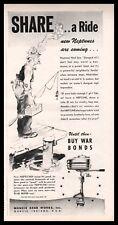 1944 WWII NEPTUNE Outboard Motor AD Meeting demands of war...Muncie Gear Works