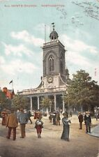 NORTHAMPTON UK ALL SAINT'S CHURCH~HARTMANN PUBL POSTCARD 1904 PSTMK