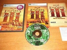 Age of Empires III 3 los jefes Expansion Pack Guerra-PC-CD v.g.c. Rápido Post