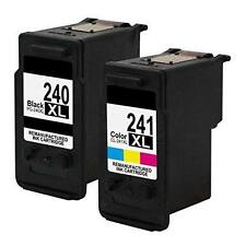 2PK PG-240XL CL-241XL Ink Cartridges For Canon PIXMA MG3222 MG3520 MG4120 MG4220