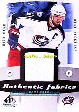 UD SPGU GAME USED 2010 RICK NASH NHL COLUMBUS BLUE JACKETS GAME JERSEY #AFRN