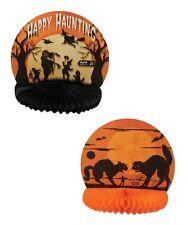 Vintage-style Halloween Paper Honeycomb Displays Black Cat Ghost Bethany Lowe