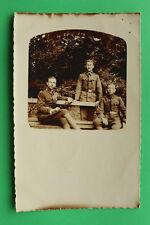 K.u.K. Foto AK 3 Soldaten Offizier Orden 1-jähr Freiwilliger 1917 1.WK WWI