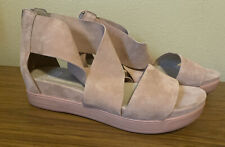 Eileen Fisher Suede Sport Sandals Blush Nubuck Leather 9.5 New zip back