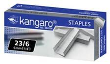 KANGARO HEAVY DUTY STAPLER STAPLES 23/6- H 6mm (1/4'') 1000 STAPLES