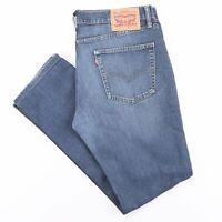 Vintage LEVI'S 511 Blue Denim Slim Straight Jeans Mens W36 L31