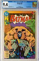 CGC 9.4 BATMAN #497 .. SCARCE NEWSSTAND EDITION .. BANE BREAKS BATMAN'S BACK ..