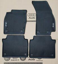 Audi A8 D5 4N original Fußmatten 4 Gummimatten vorne + hinten Gummifußmatten