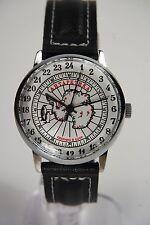 Mechanical watch RAKETA ANTARCTICA 24-HOUR. New. White dial. Case 34mm