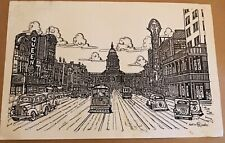 """1996 Ink Drawing of """"vintage AUSTIN Theaters""""  by Richard """"Ricardo"""" Ross"""