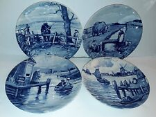 "HOLLAND DELFT BLUE ""ANNO 1661"" 4 SERIES PLATES OF THE MONTHS 9.5"" NEW"
