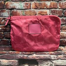 Coach Signature Nylon Packable Travel Pouch F77321 Berry