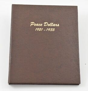Used Dansco 1921-1935 Peace Dollars Empty Coin Album Book - 15 Oz. *612