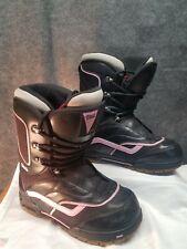 9505a72559 Vans Women s Mantra Snowboard Boots Size 10 Black Pink Lace Ups EUR 41 UK  7.5