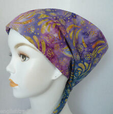 Colorful Batik Cancer Chemo Hat Scarves Head Wrap Hairloss Cotton Hair Covering