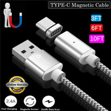 1m/2m/3m HIGH SPEED Magnetic LED USB-C Fast Charger Type C Transfer Cable Wire