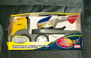 Little Tikes Rugged Riggz HELICOPTER HAULER SEMI NEW IN PACKAGE 2005 VHTF