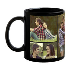 PERSONALIZED CUSTOMISED BLACK COFFEE PHOTO MUG Valentine Birthday Gift