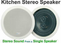 "Kitchen White Ceiling Stereo Speaker 6.5"" Loudspeaker 100W 952.537"