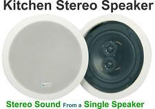"""Kitchen White Ceiling Stereo Speaker 6.5"""" Loudspeaker 100W 952.537"""