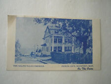 Vintage Business CardRalph Waldo Emerson Inn Pigeon Cove Rockport MA