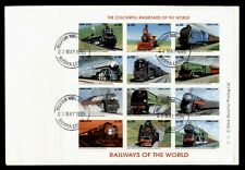 DR WHO 1995 SIERRA LEONE FDC RAILWAYS OF THE WORLD SHEET 181833