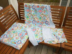 2x Pip Studio Fairy Tiles Bettwäsche blau türkis Übergröße ca 155 x 220 / 80x40