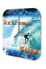Sports Wall Clock  Extreme Sports Surfing Printed Acryl Acrylglass