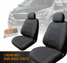 Kia Carnival YP Custom SEAT COVERS 3 ROW SET FEB/2015-2016 S Si SLi Platinum CHA