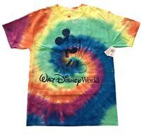 NWT Disney Walt Disney World Parks Mickey Mouse T-Shirt Tie-Dye Adult L