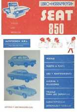 SEAT 850 SPORT COUPE SPIDER ESPECIAL MANUAL DE REPARACION TALLER LIBRO WORKSHOP
