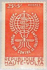 Upper Volta obervolta 1962 100 b1 anti lucha contra la malaria mosquito insect mnh
